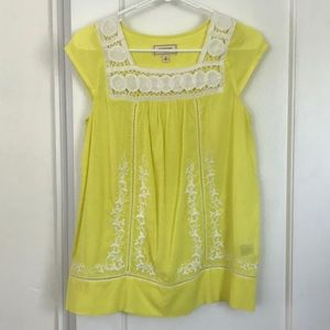 NWOT Anthropologie Embroidered Top Sz 0